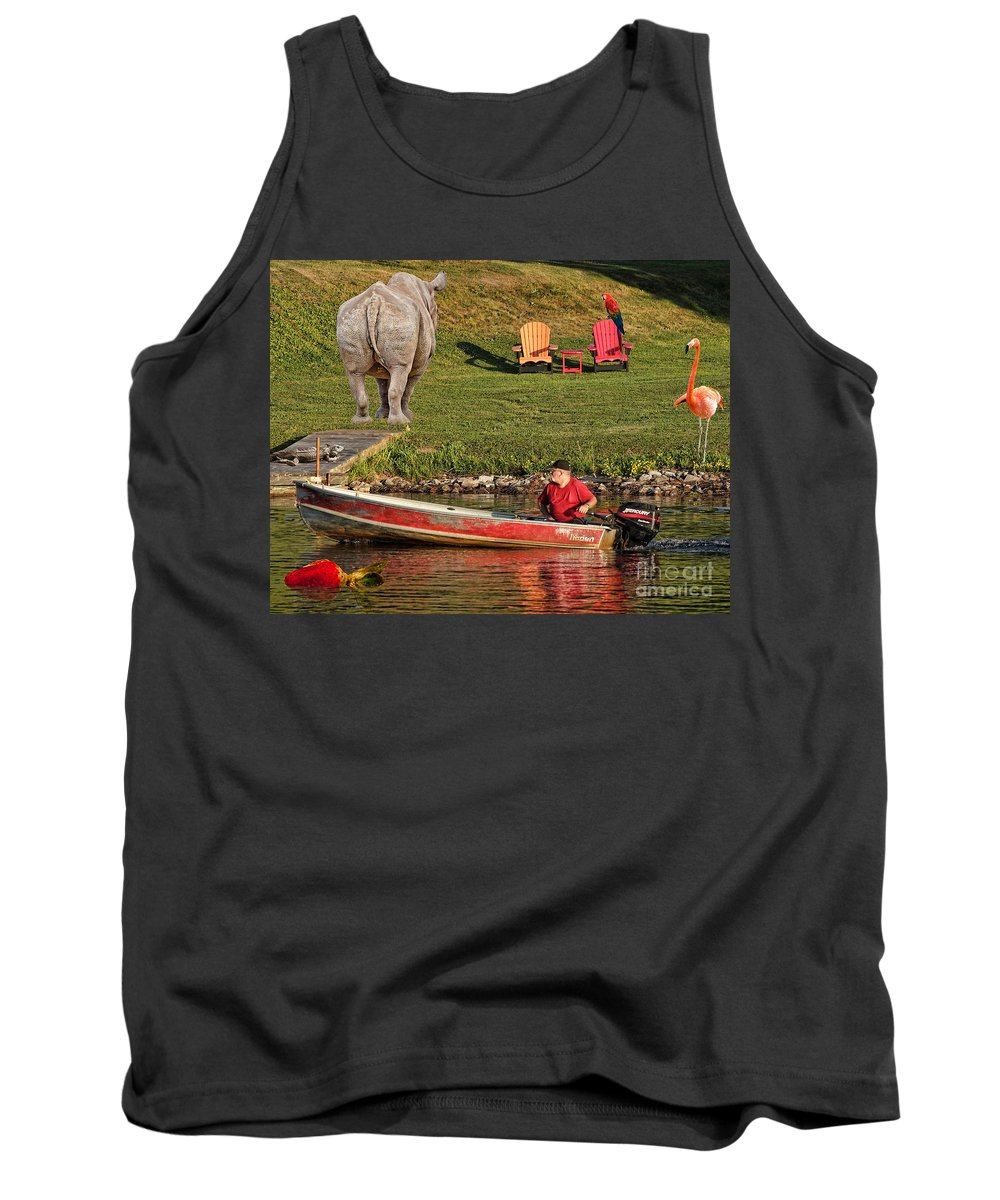 Summer.morning Tank Top featuring the photograph Summer Morning On Muskoka River by Les Palenik