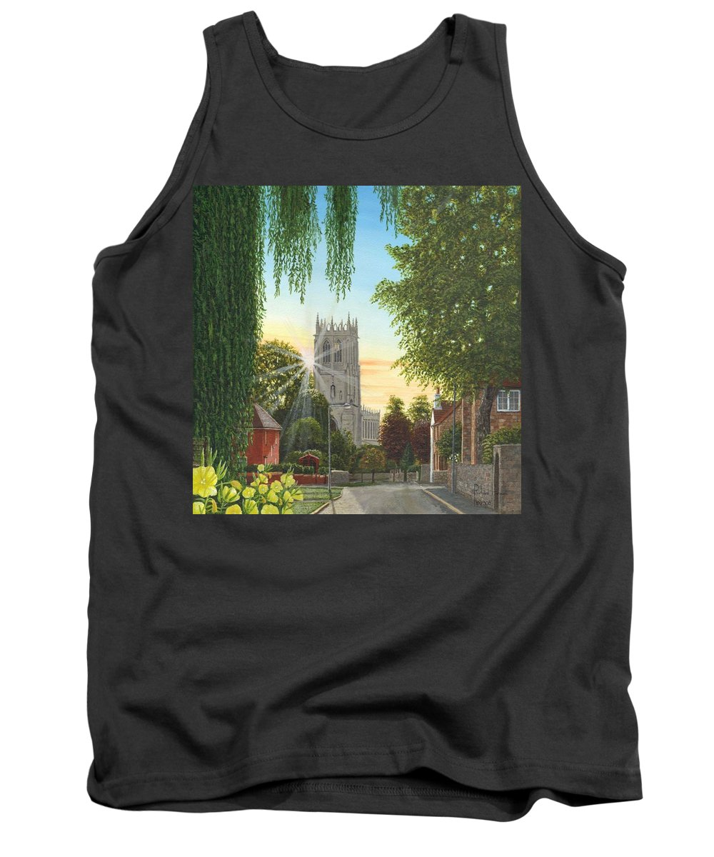 Landscape Tank Top featuring the painting Summer Morning St. Mary by Richard Harpum