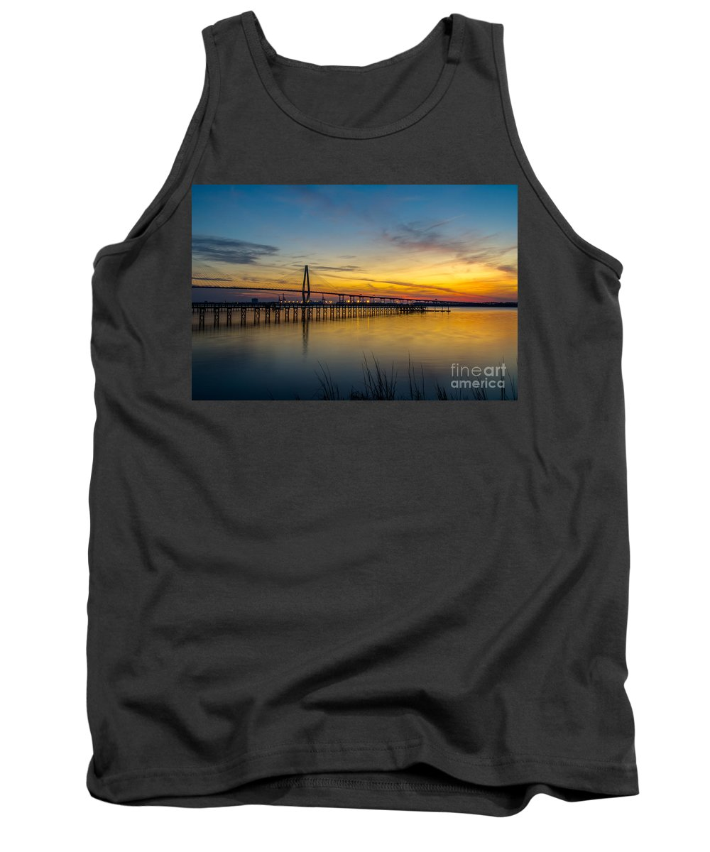 Sunset Tank Top featuring the photograph Summer Sky by Dale Powell