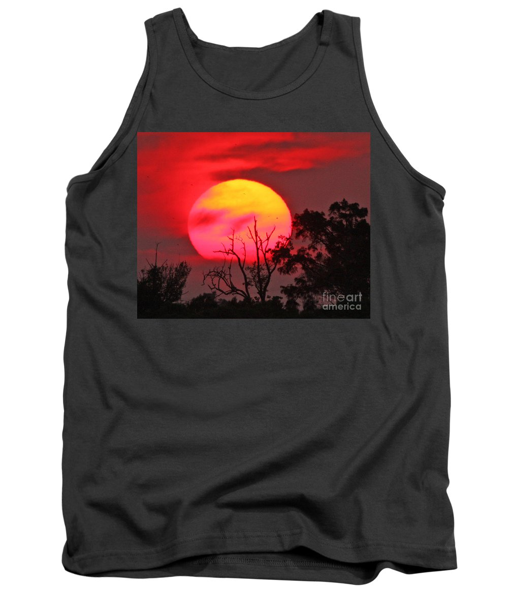 Sunset Photography Tank Top featuring the photograph Louisiana Sunset On Fire by Luana K Perez