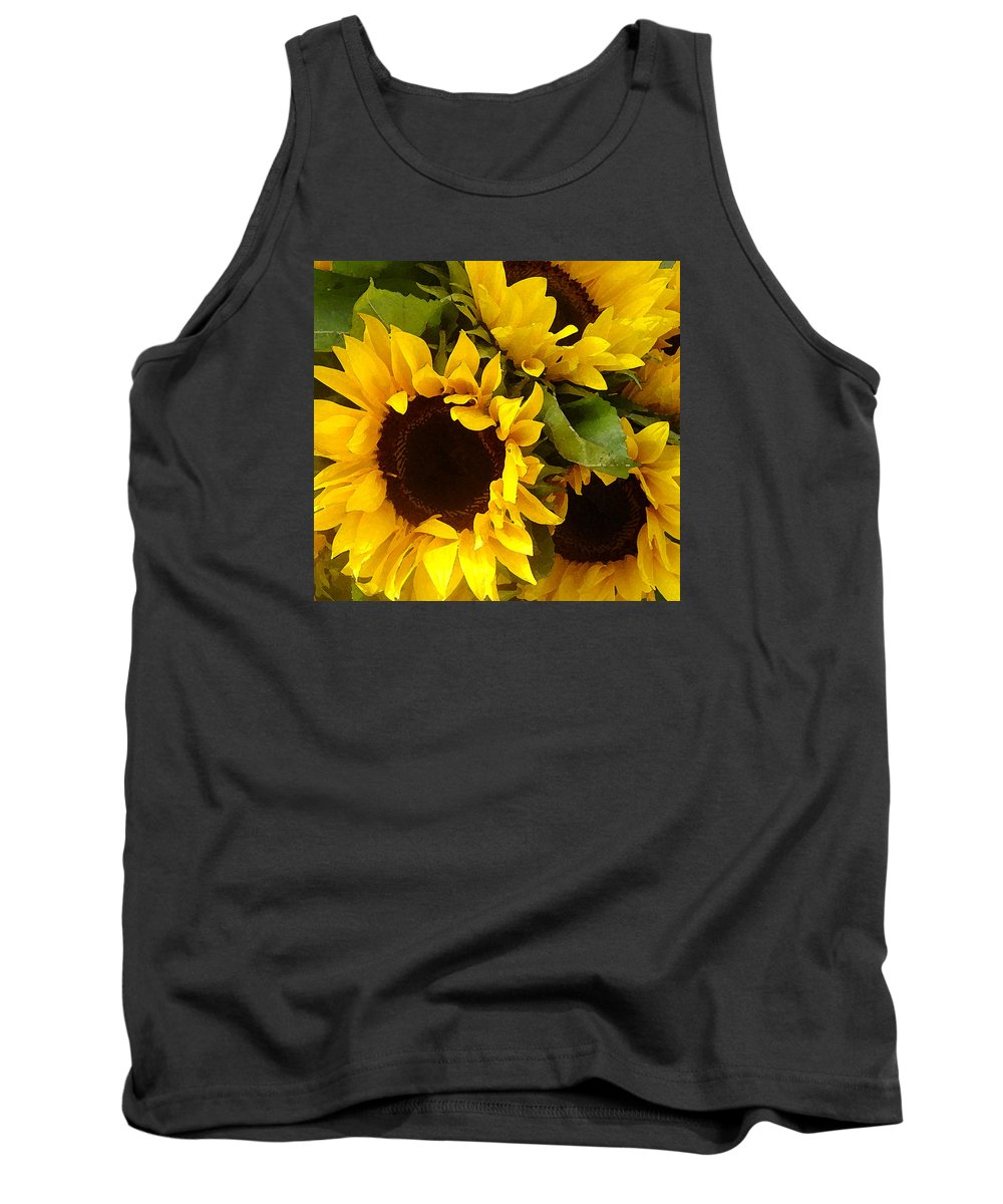 Sunflowers Tank Top featuring the painting Sunflowers by Amy Vangsgard