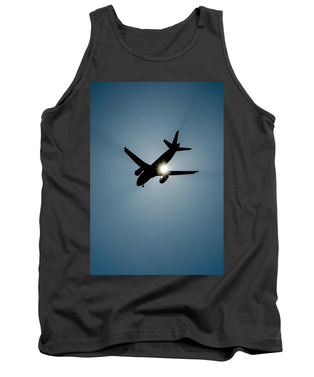 Airplane Tank Top featuring the photograph Sunflyer by Andreas Berthold
