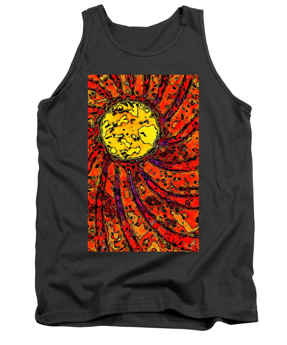 Sun Tank Top featuring the digital art Sunny And Warm Today by David G Paul