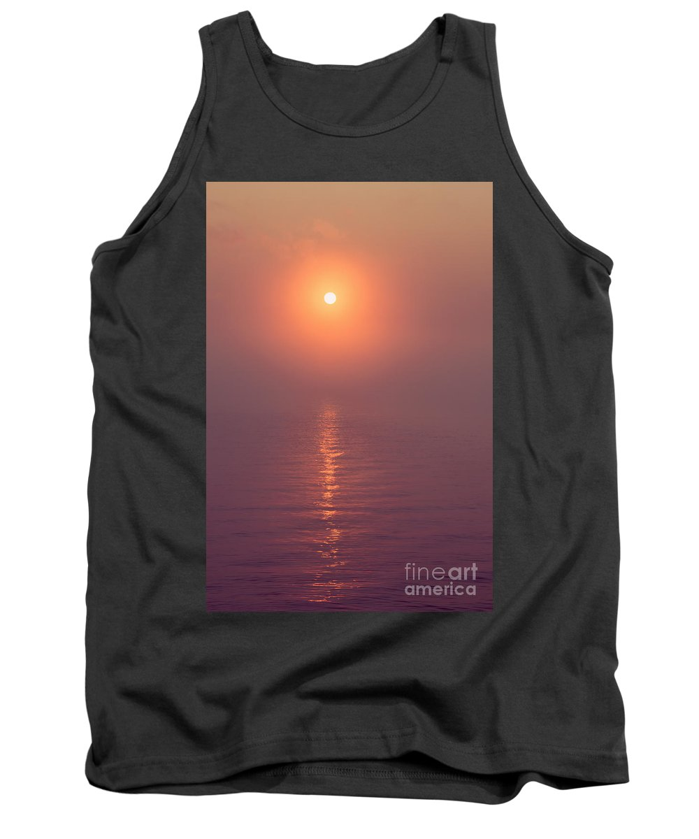 West Thumb Geyser Basin Tank Top featuring the photograph Sunrise Over Yellowstone Lake by Bryan Mullennix