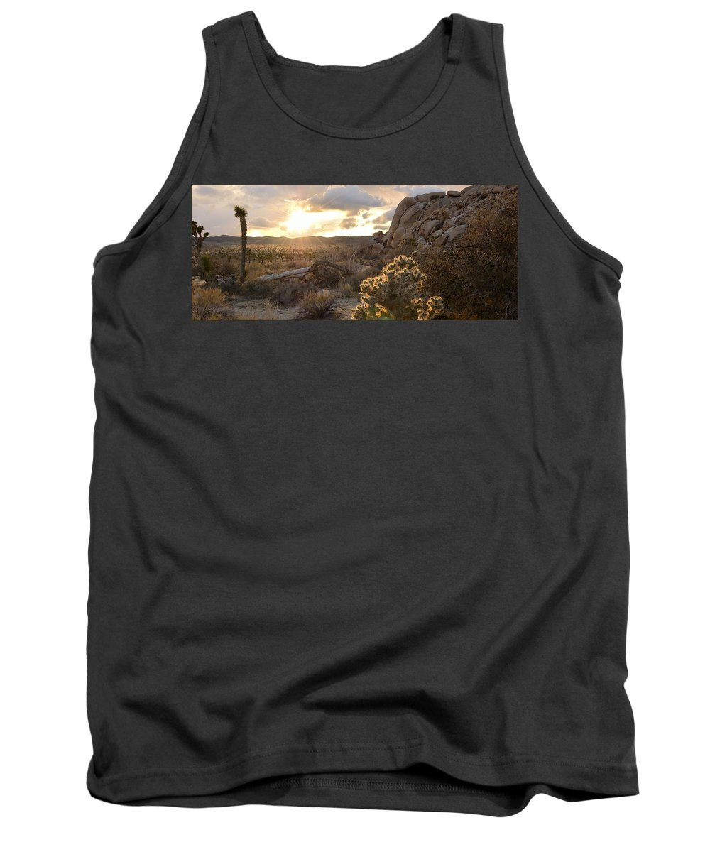 Sunset Tank Top featuring the photograph Sunset At Joshua Tree National Park by Yinguo Huang