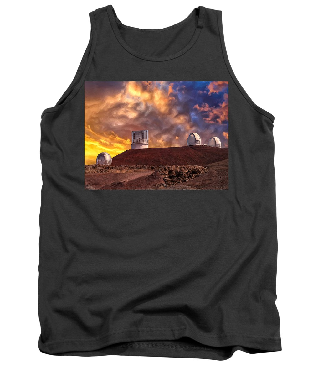 Sunset Tank Top featuring the painting Sunset At Mauna Kea Summit by Dominic Piperata