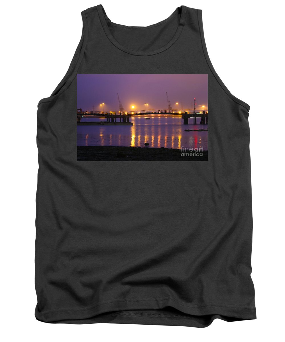 Southampton Docks Tank Top featuring the photograph Sunset At Southampton Docks by Terri Waters