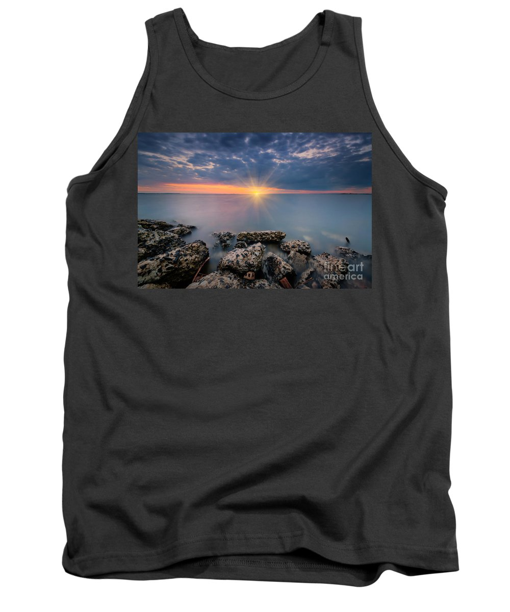 Sandy Hook Tank Top featuring the photograph Sunset Bliss by Michael Ver Sprill