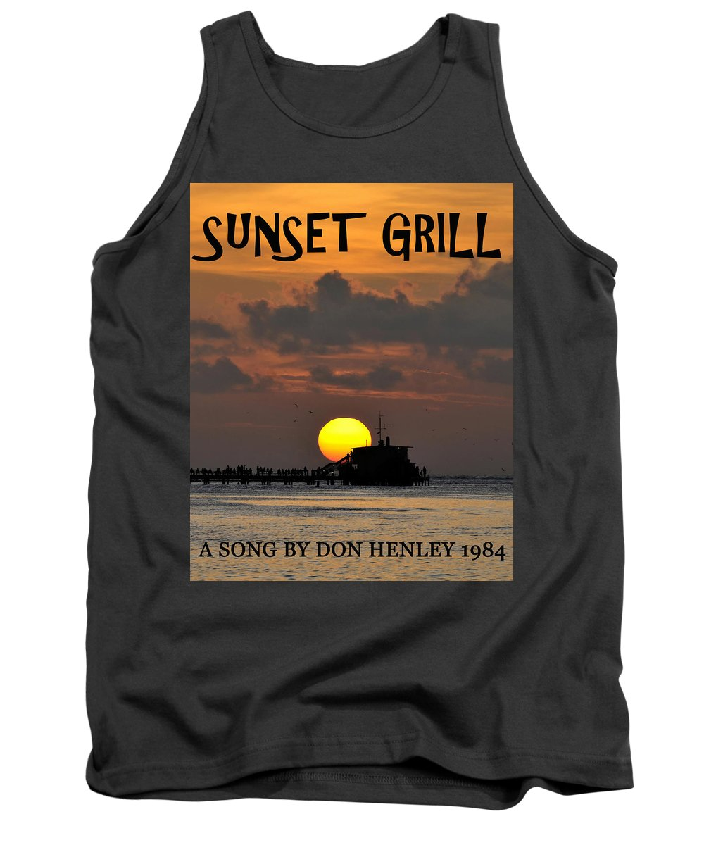 Sunset Grill Tank Top featuring the photograph Sunset Grill Don Henley 1984 by David Lee Thompson