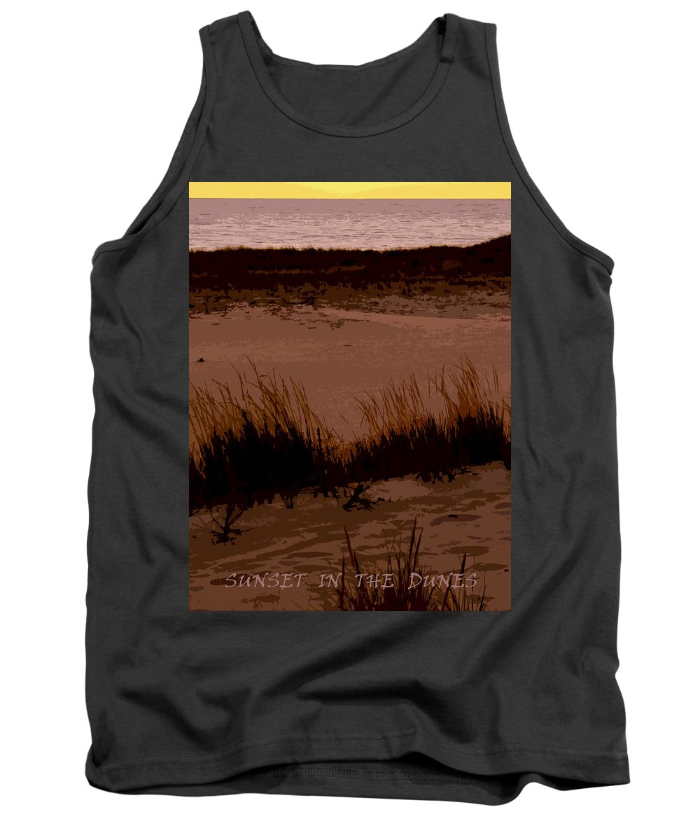 Travel Tank Top featuring the photograph Sunset In The Dunes by Michelle Calkins