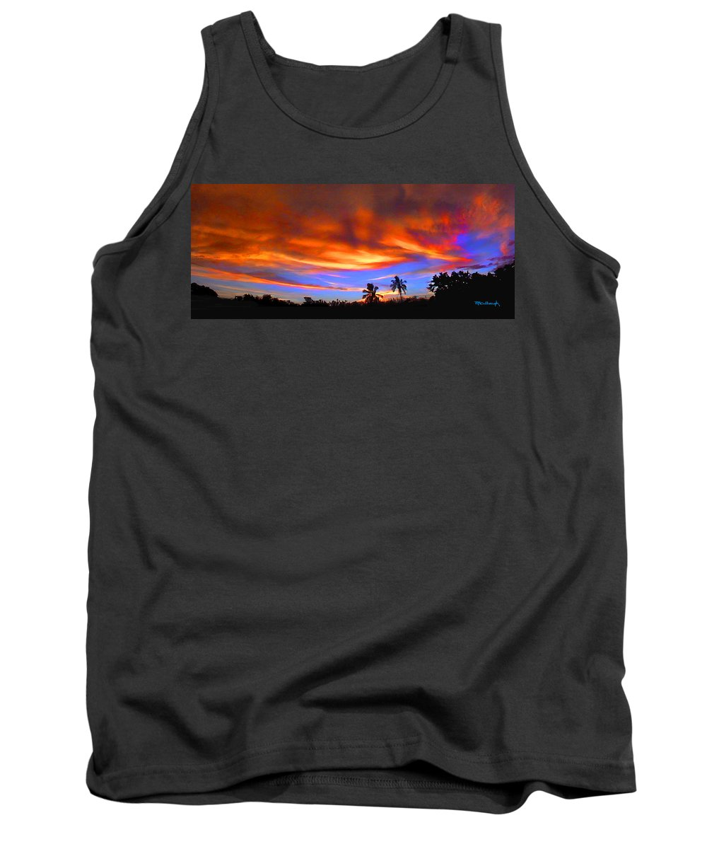 Duane Mccullough Tank Top featuring the photograph Sunset Key Largo Filtered by Duane McCullough