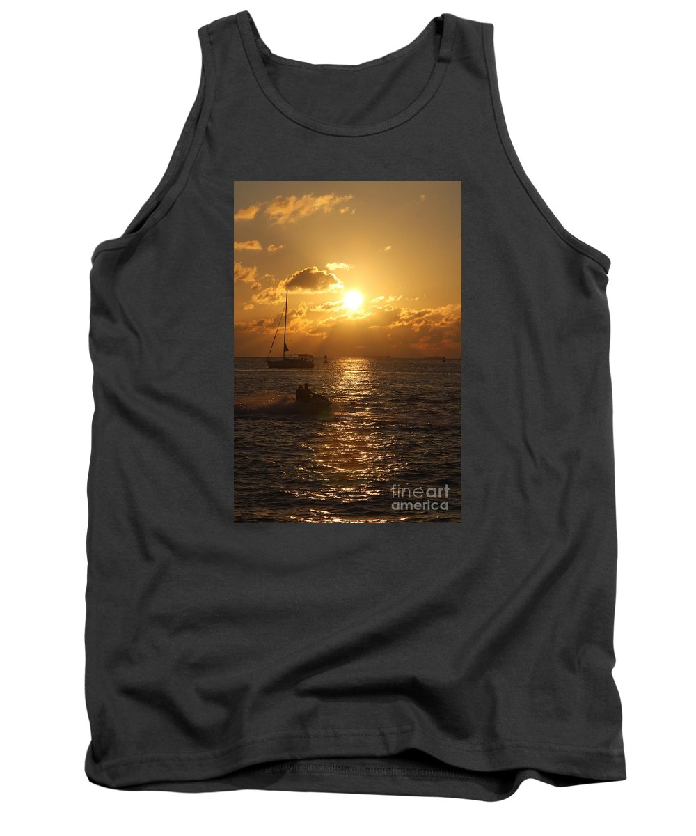 Sunset Tank Top featuring the photograph Sunset Over Key West by Christiane Schulze Art And Photography