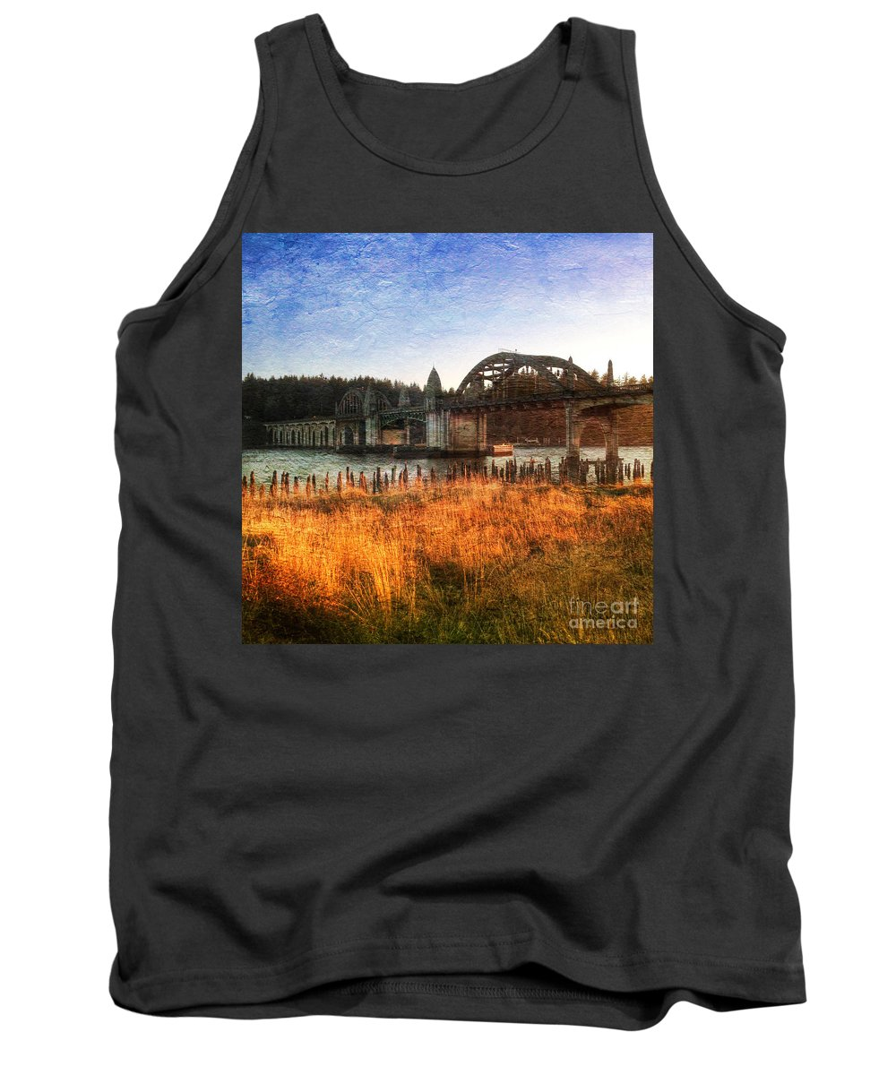 Sunset Tank Top featuring the photograph Sunset On The Siuslaw River by Charlene Mitchell