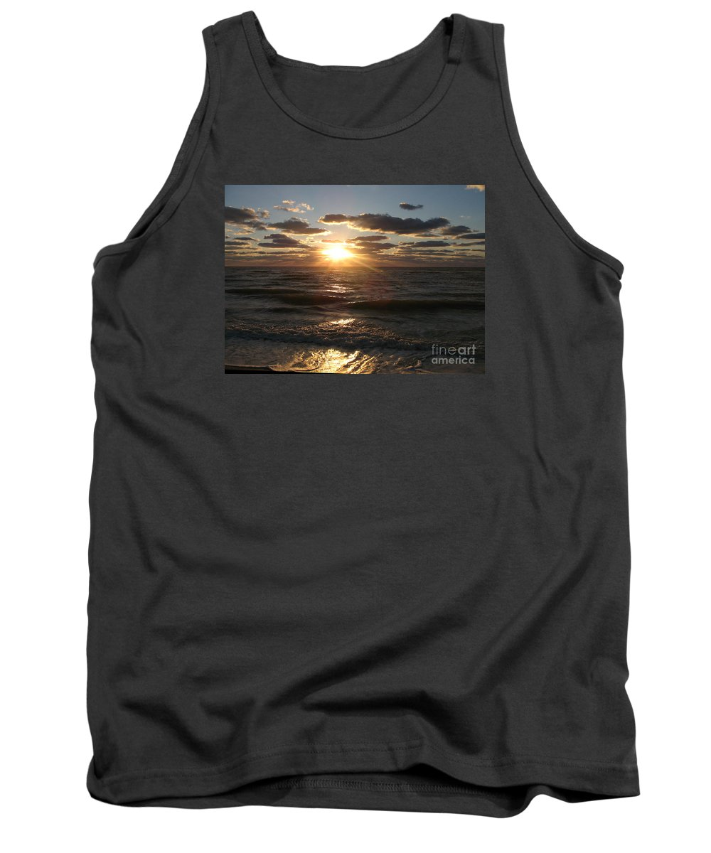 Sunset Tank Top featuring the photograph Sunset On Venice Beach by Christiane Schulze Art And Photography