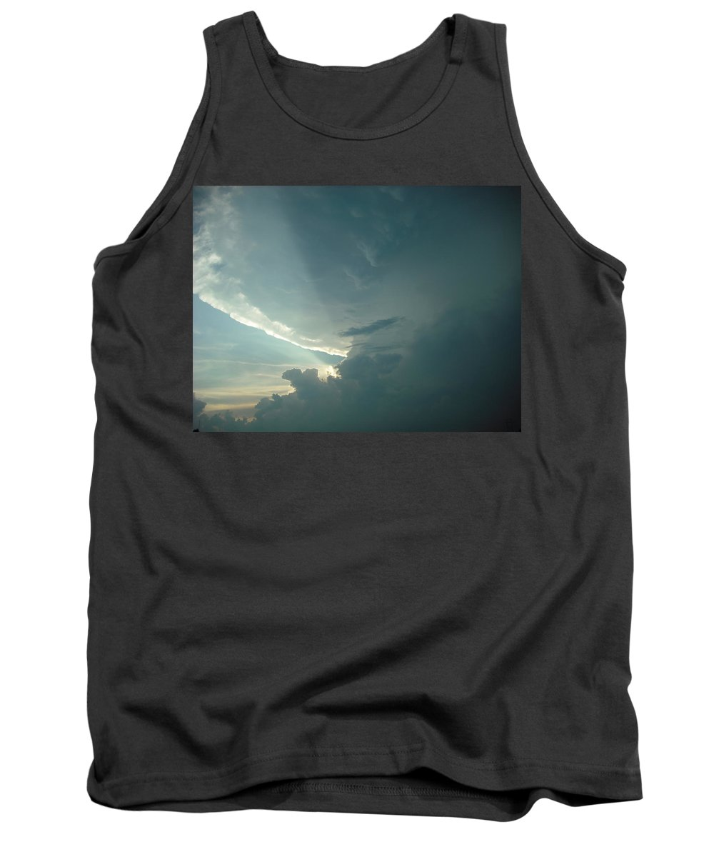 Landscape Tank Top featuring the photograph Sunset Supercell by Ed Sweeney