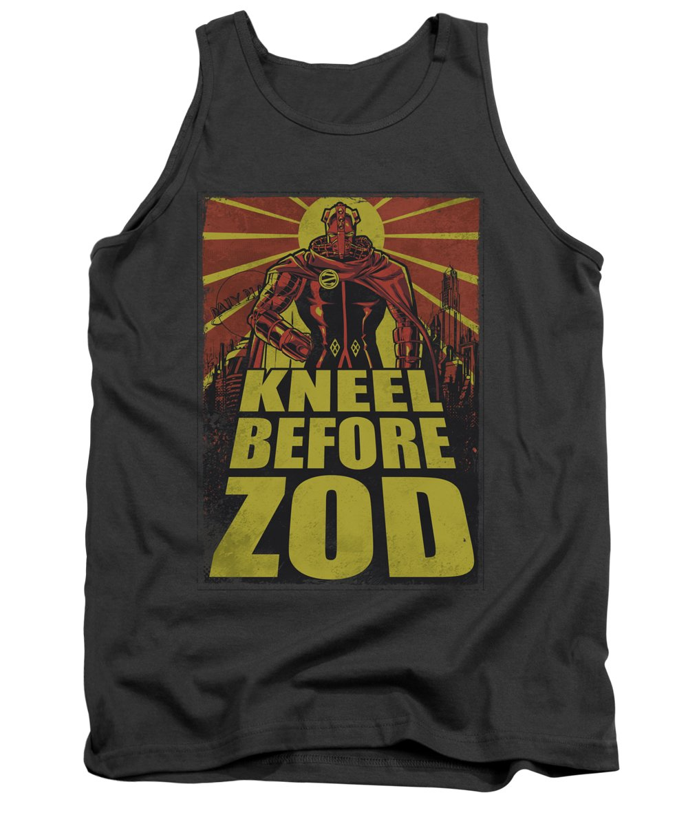 Superman Tank Top featuring the digital art Superman - Zod Poster by Brand A