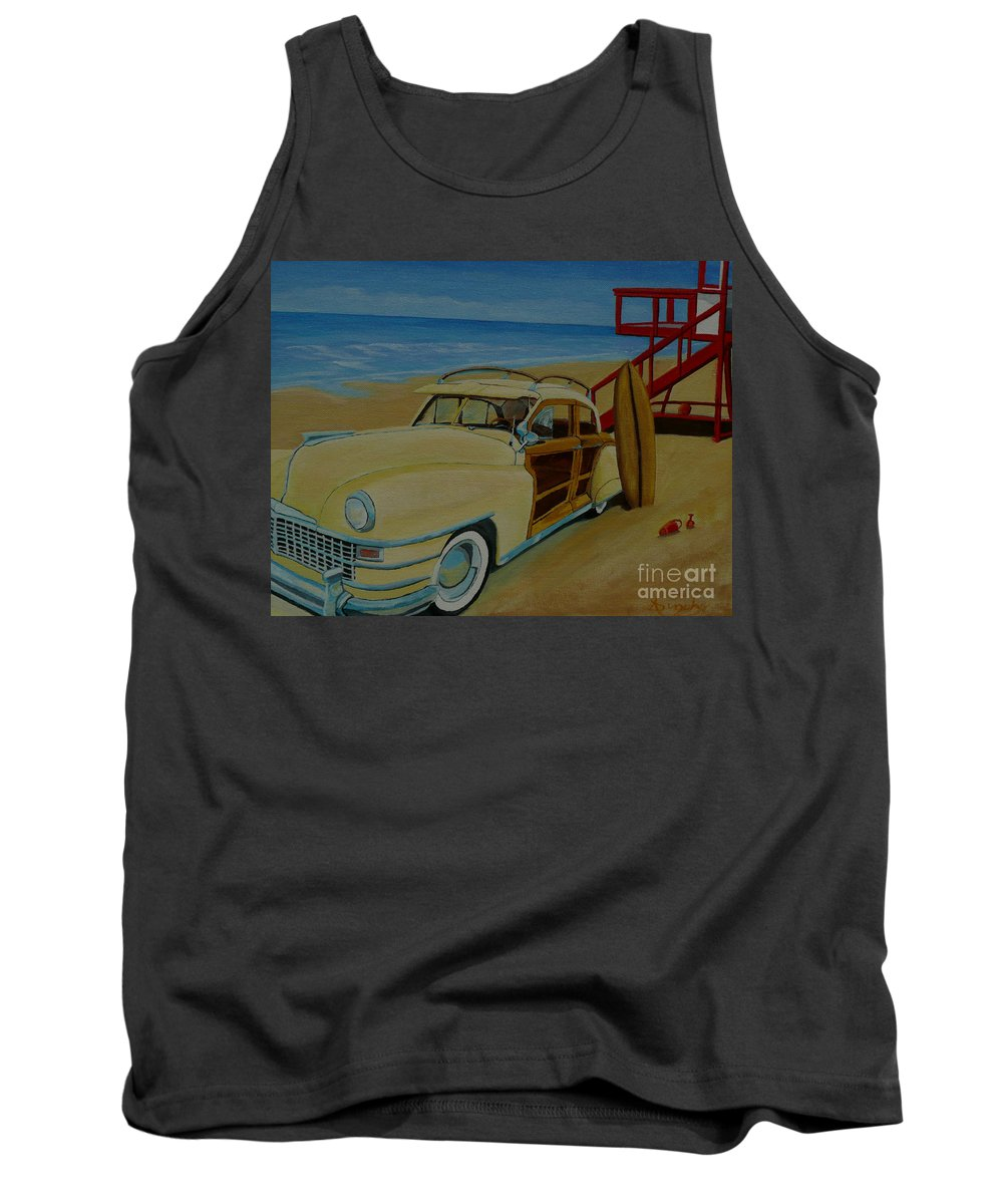 Woody Tank Top featuring the painting Surfers Woody by Anthony Dunphy