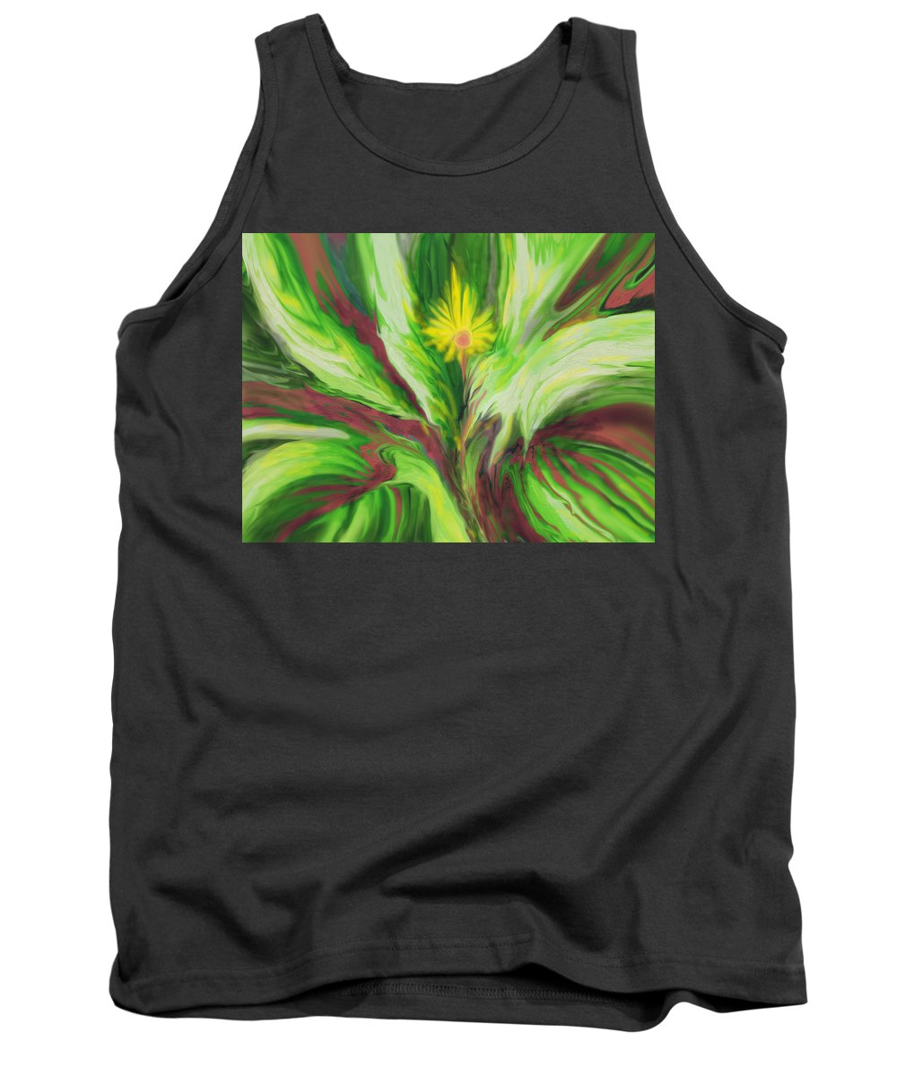 Abstract Tank Top featuring the digital art Surviving by Ian MacDonald