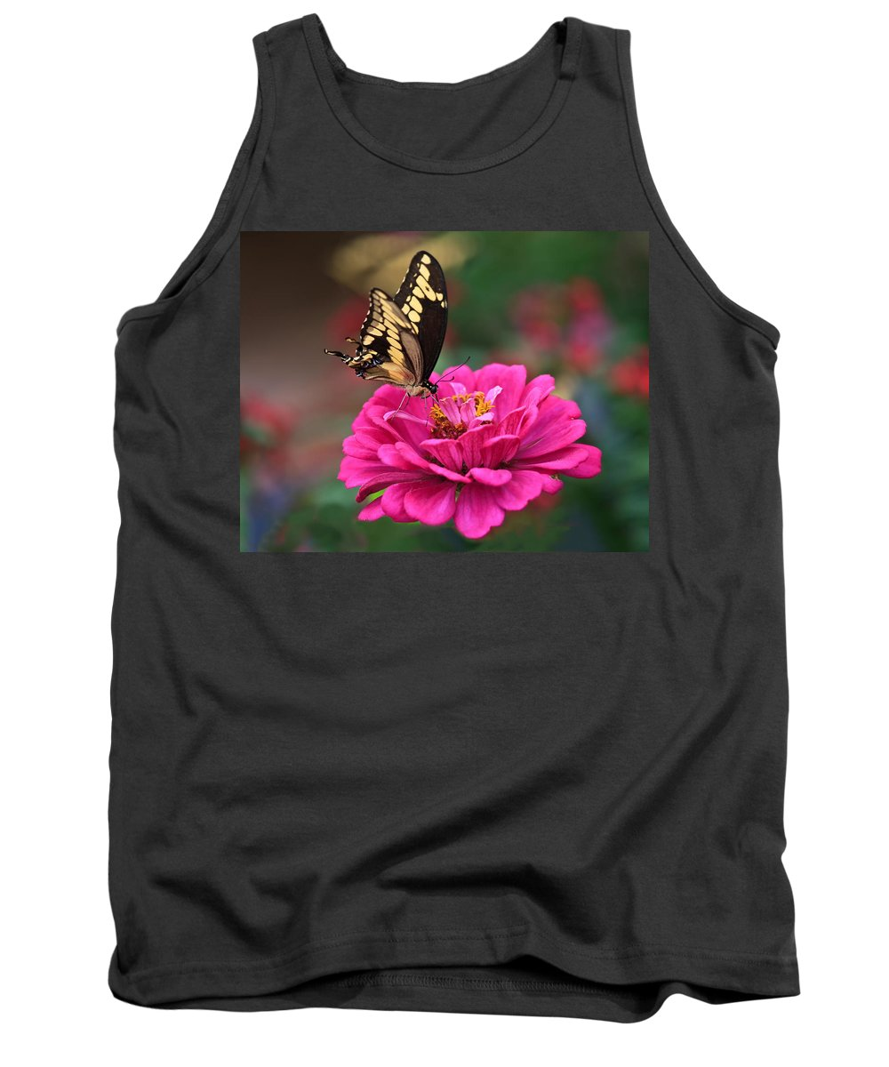 Swallowtail Tank Top featuring the photograph Swallowtail Butterfly by Beth Sargent