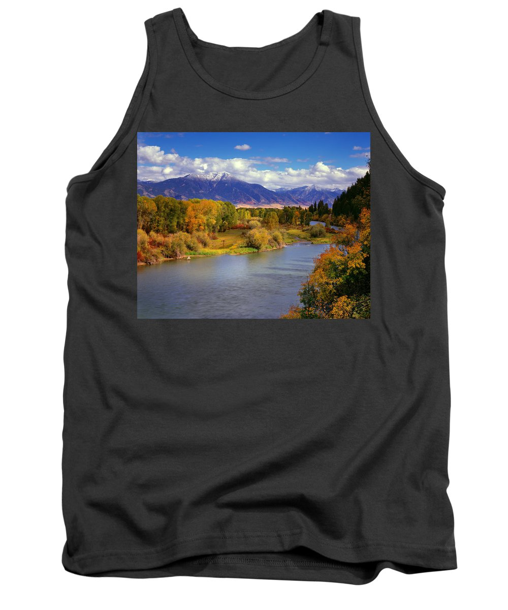 Snake River Tank Top featuring the photograph Swan Valley Autumn by Leland D Howard