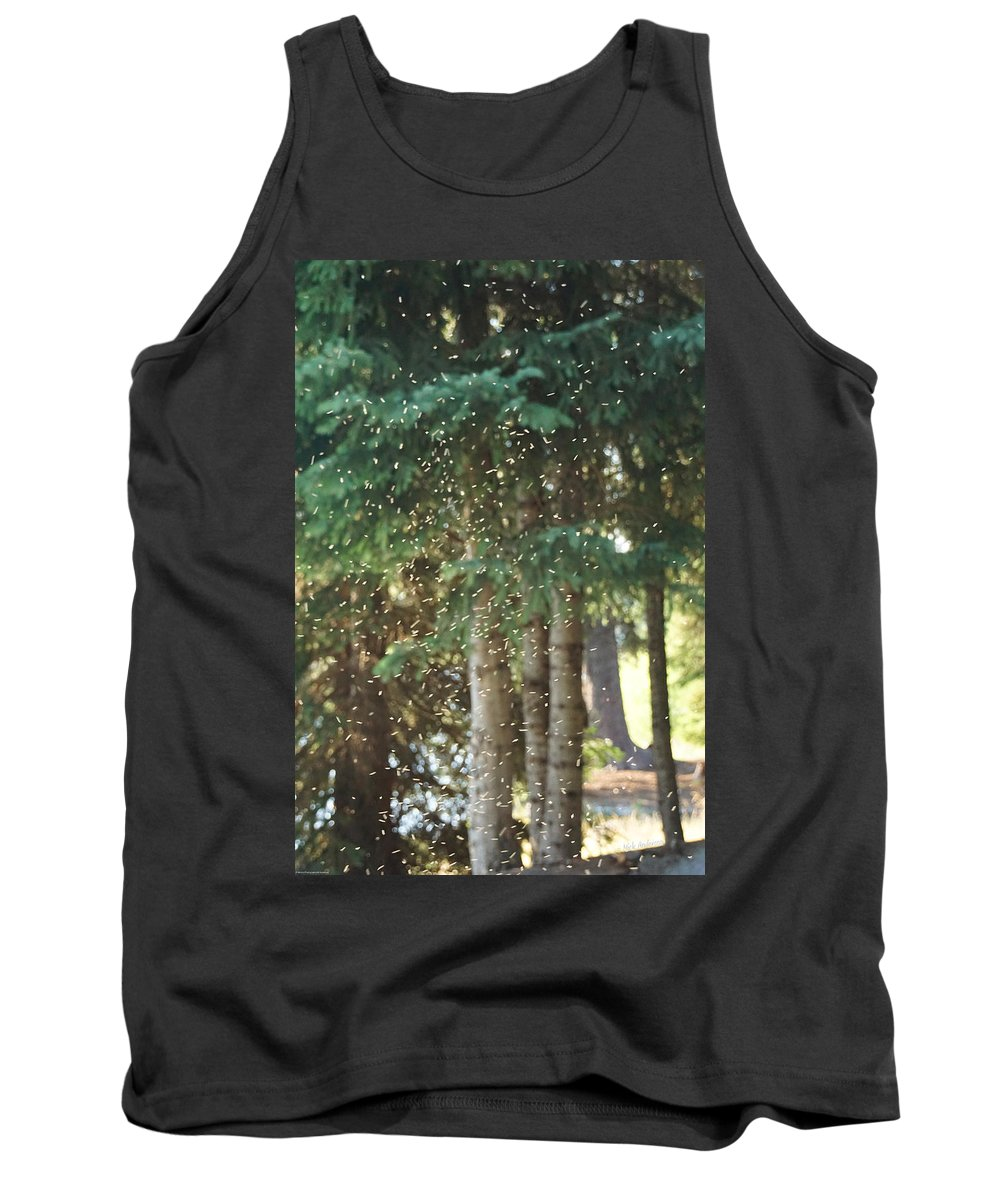 Swarm Tank Top featuring the photograph Swarm Of Gnats by Mick Anderson