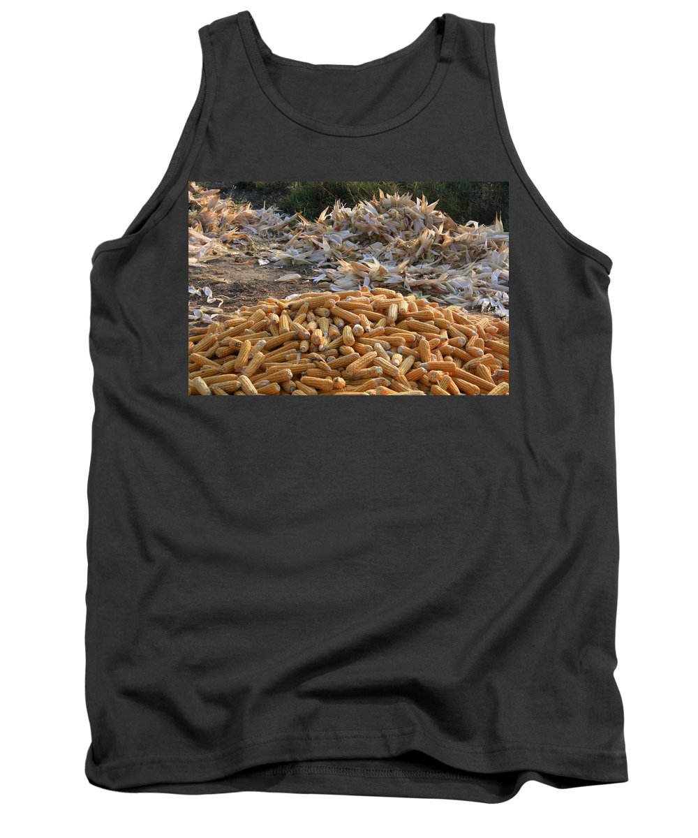 Sweet Corn Tank Top featuring the photograph Sweet Corn And Husks by Taiche Acrylic Art