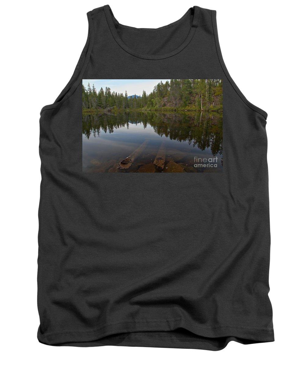 Swim Lake Tank Top featuring the photograph Swim Lake by Adam Jewell