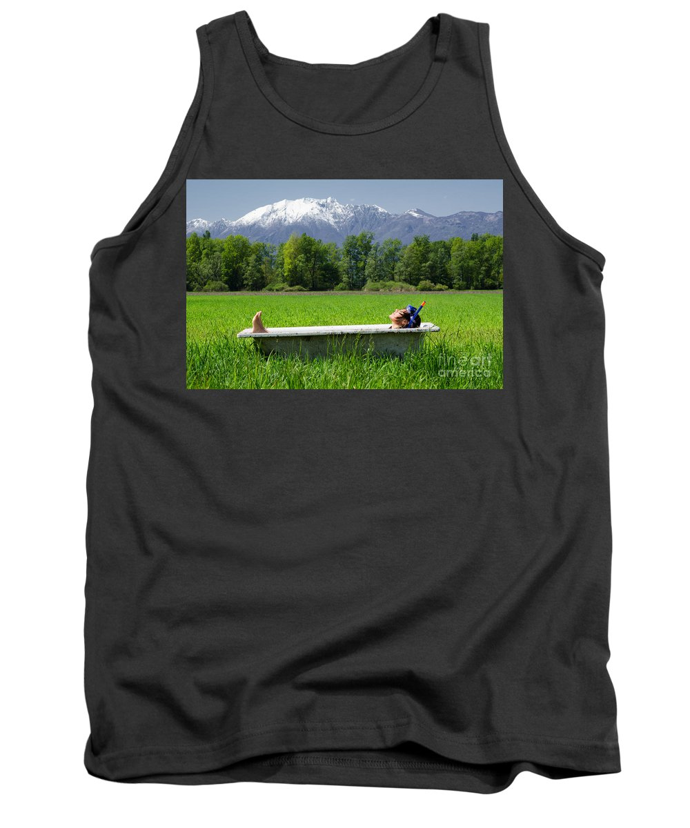Woman Tank Top featuring the photograph Swiss Spa by Mats Silvan