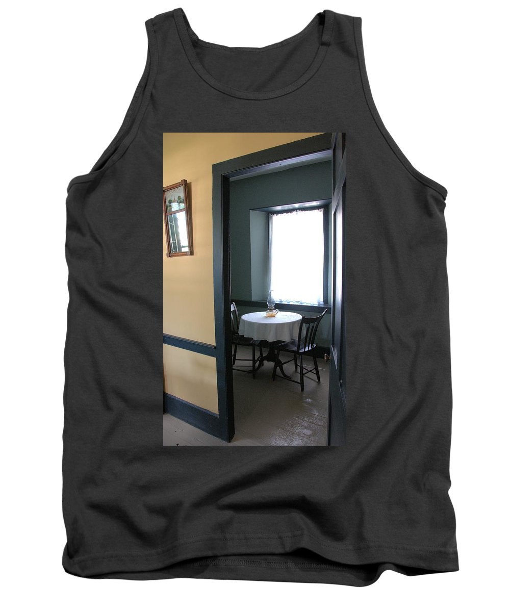 Architecture Tank Top featuring the photograph Table For Two by Valerie Kirkwood