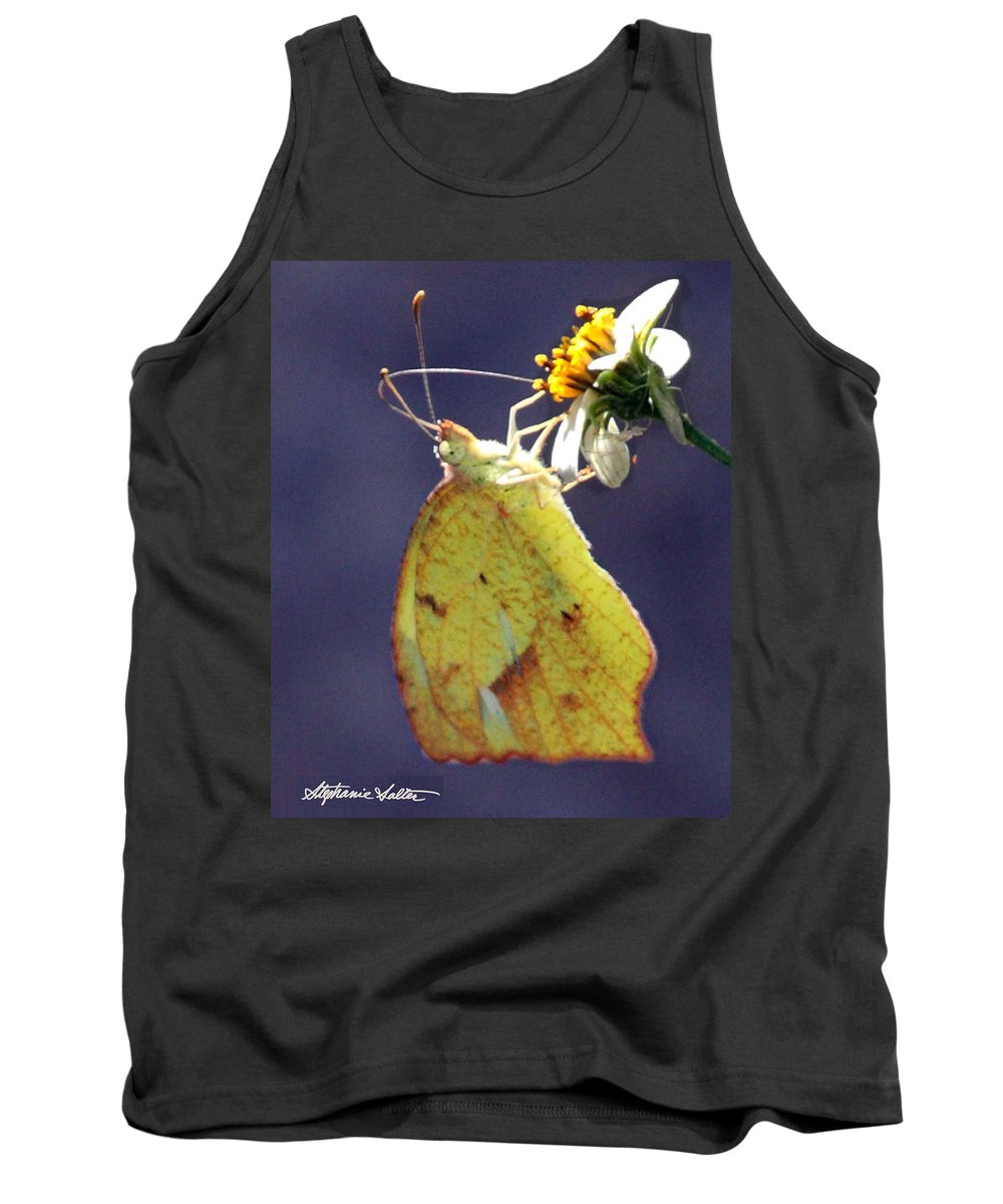 Nature Tank Top featuring the photograph Tailed Orange Butterfly by Stephanie Salter