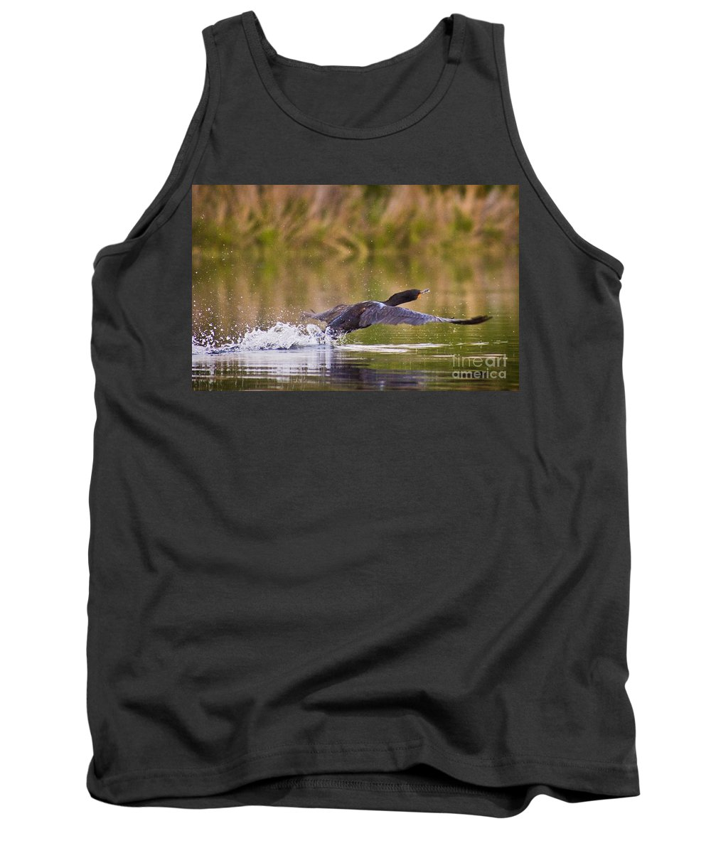 Duck Tank Top featuring the photograph Take Off by Andrea Goodrich