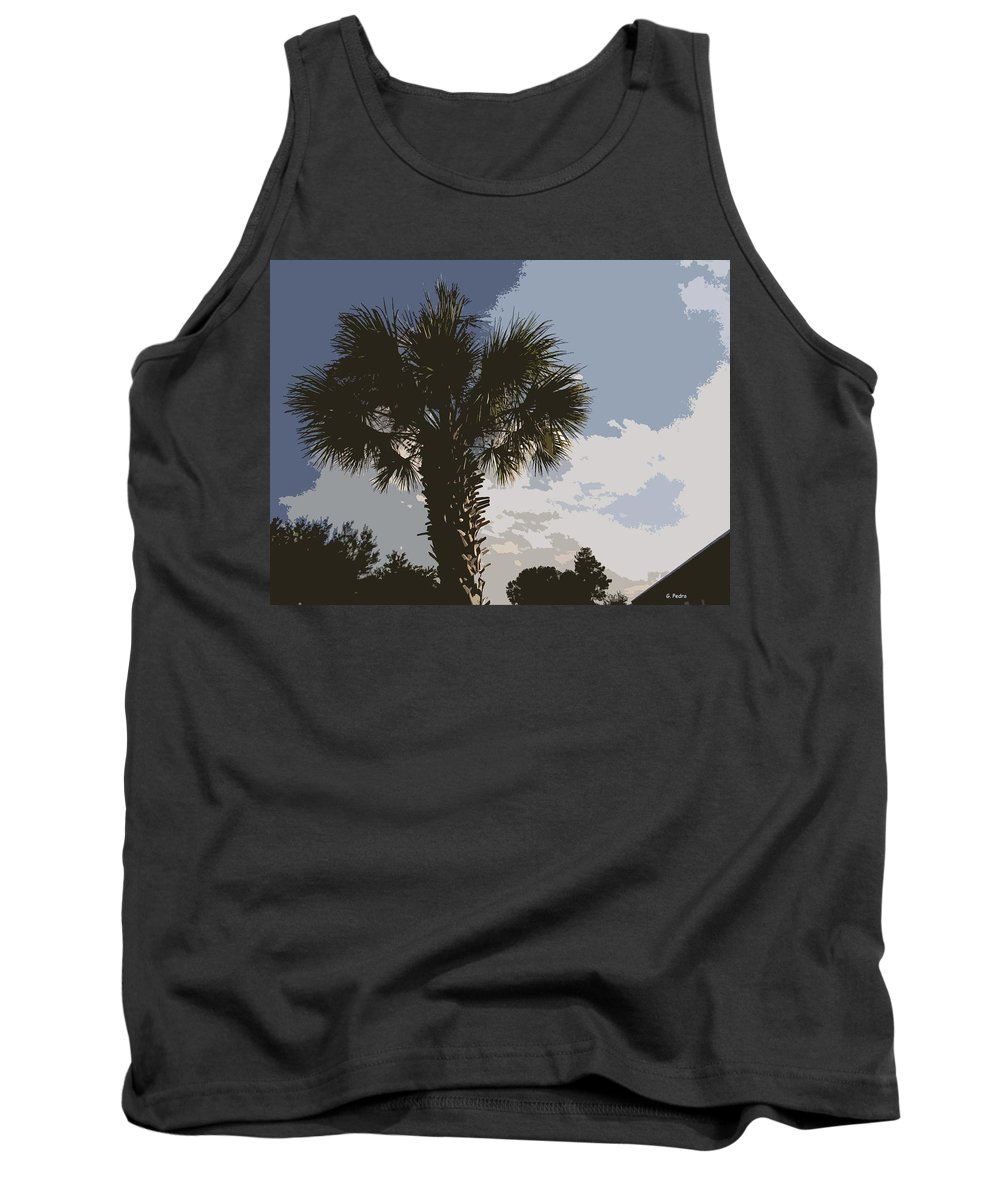 Palm Tank Top featuring the painting Tall Palm by George Pedro