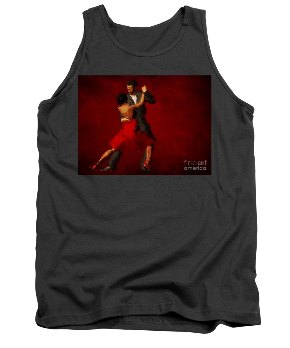 Tango Painting Tank Top featuring the painting Tango by John Edwards