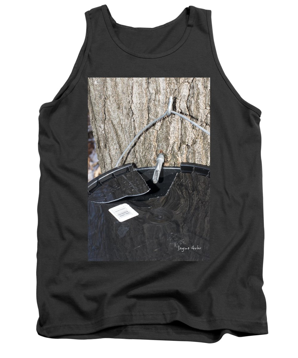 Maple Syrup Tank Top featuring the photograph Tapped by Jayne Gohr