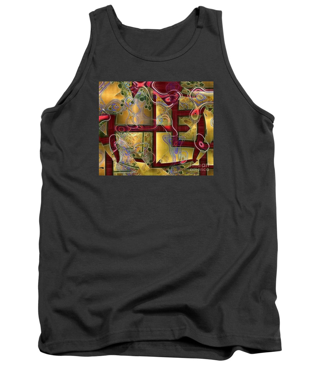 Abstract Tank Top featuring the painting Tea Ceremony by RC DeWinter
