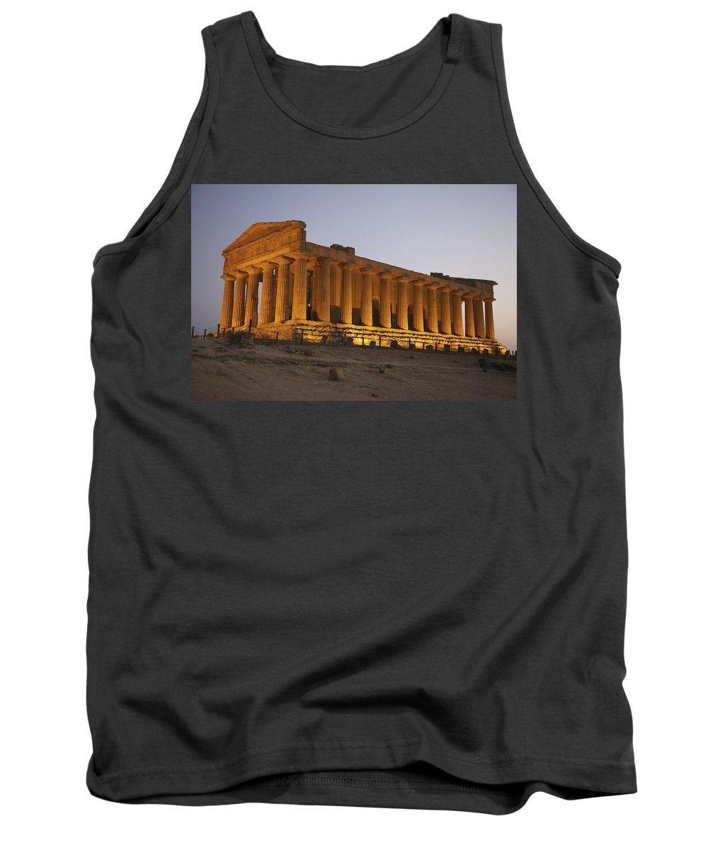 Ancient Tank Top featuring the photograph Temple Of Concordia In The Valley Of by Patrick Swan