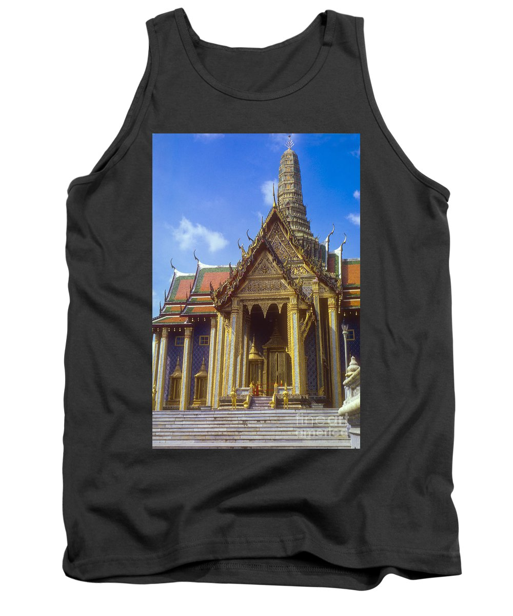 Temple Of The Emerald Buddha Imperial Palace Bangkok Thailand Structure Structures Palaces Building Buildings Architecture City Cities Cityscape Cityscapes Ornate Temples Landmark Landmarks Place Places Of Worship Tank Top featuring the photograph Temple Of The Emerald Buddha by Bob Phillips