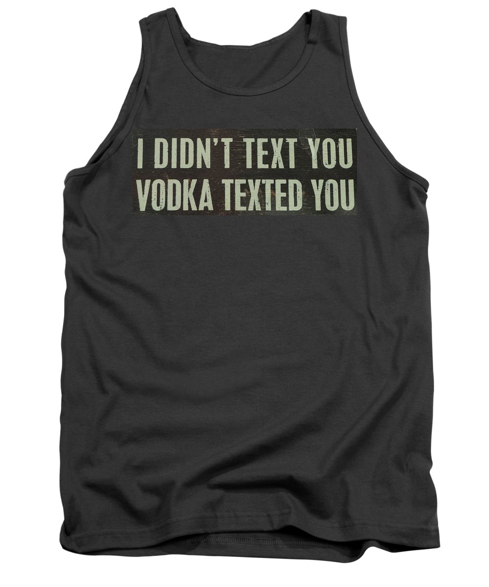 Text Tank Top featuring the photograph Texting by Brigitte Mueller