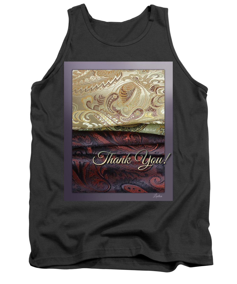 Fabric Tank Top featuring the digital art Thank You by Richard Laeton