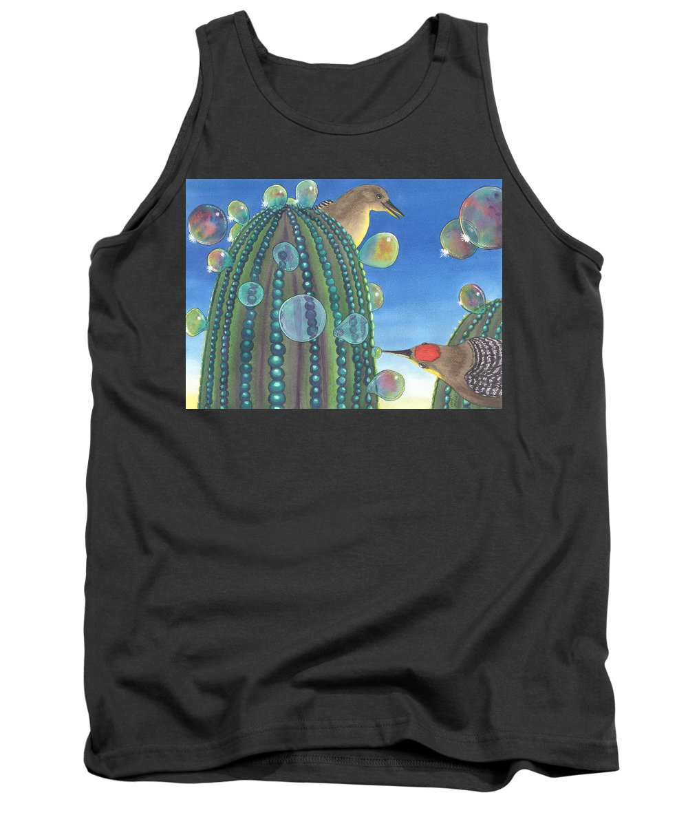 Gila Woodpecker Tank Top featuring the painting Thats Different by Catherine G McElroy