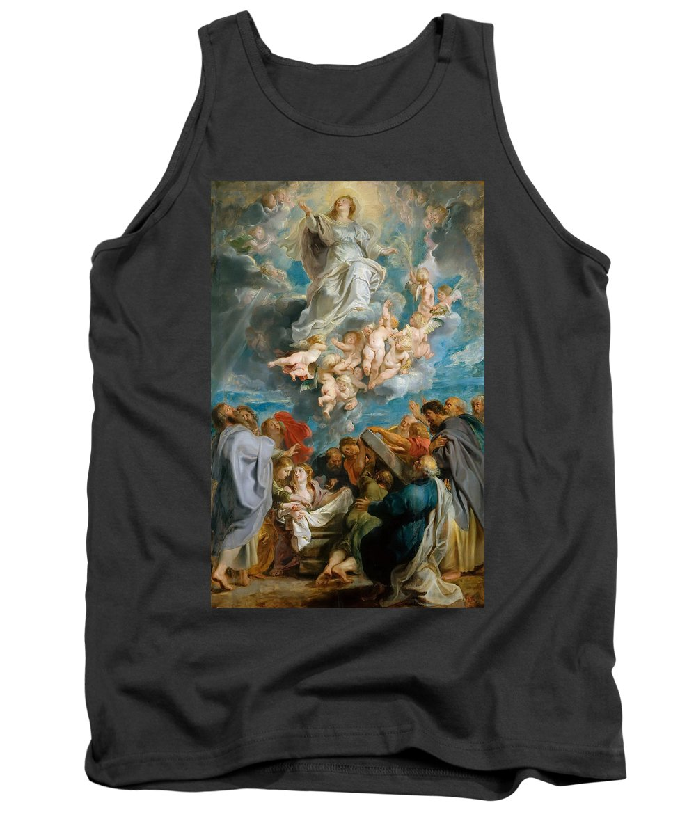 Peter Paul Rubens Tank Top featuring the painting The Assumption Of The Virgin by Peter Paul Rubens