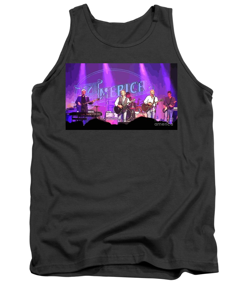 The Band America Tank Top featuring the photograph The Band America by John Malone