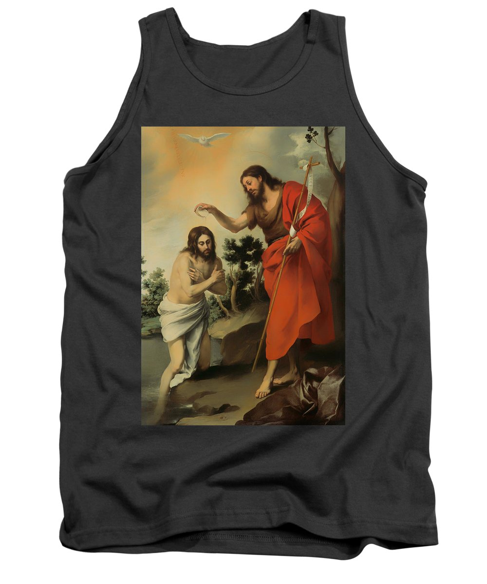 Painting Tank Top featuring the painting The Baptism Of Christ by Mountain Dreams