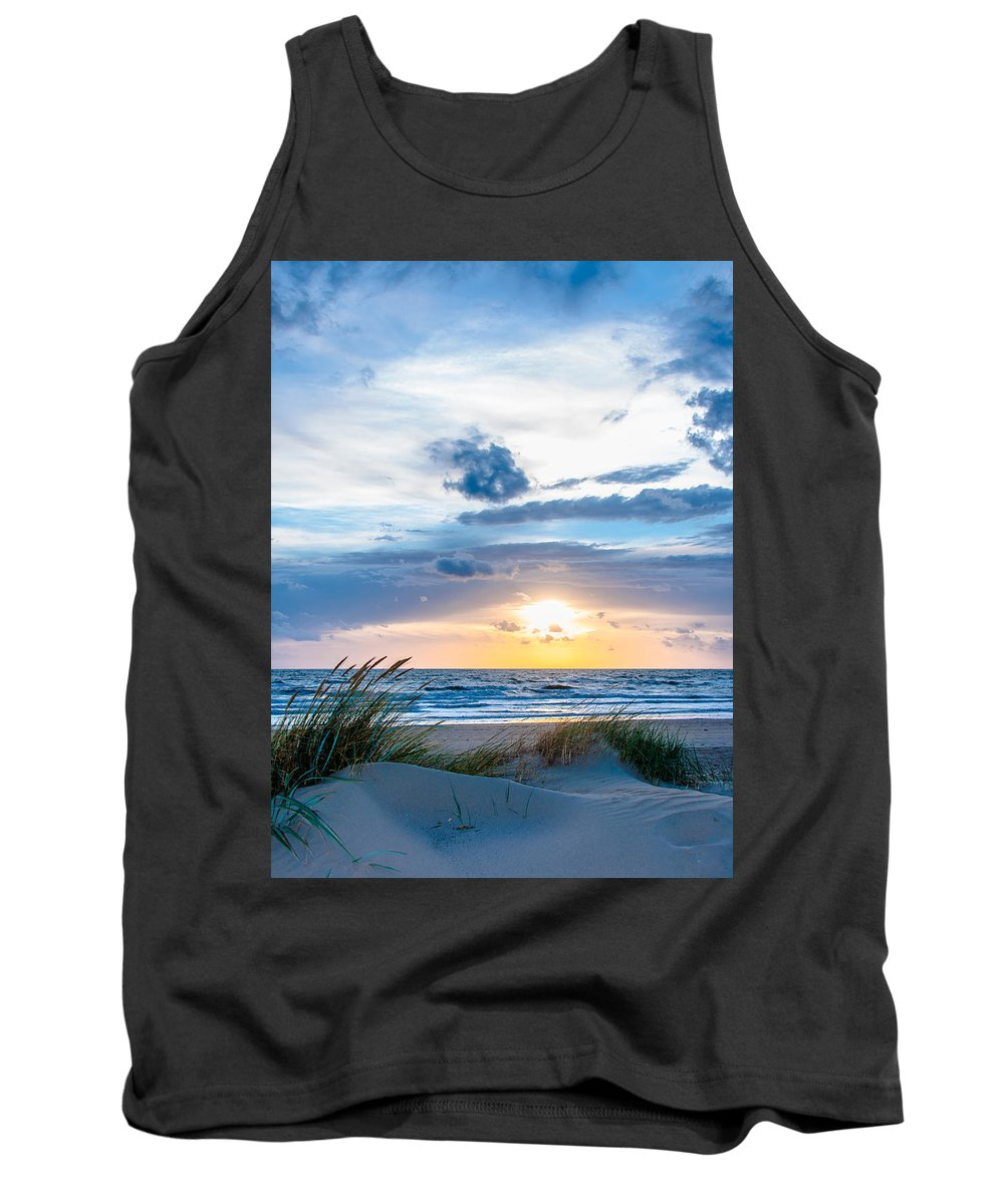 Sky Tank Top featuring the photograph The Beach Part 4 by Alex Hiemstra