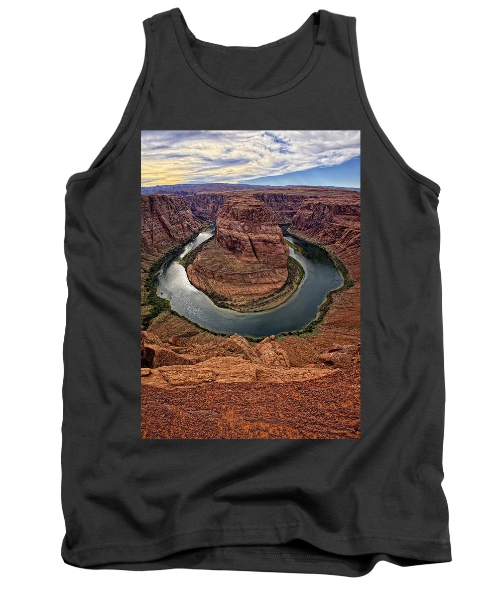 Grand Canyon Tank Top featuring the photograph The Bend In The River by Lucinda Walter