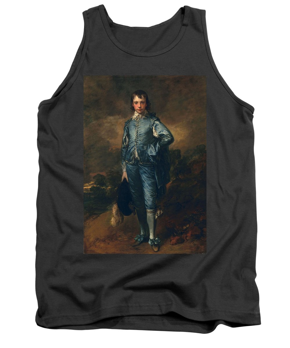 Male Tank Top featuring the painting The Blue Boy, C.1770 by Thomas Gainsborough