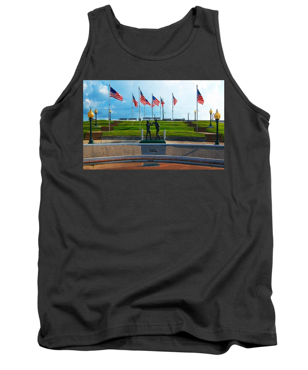 Boxing Match Kenner La Tank Top featuring the photograph The Boxing Match Kenner La by Bob Pardue