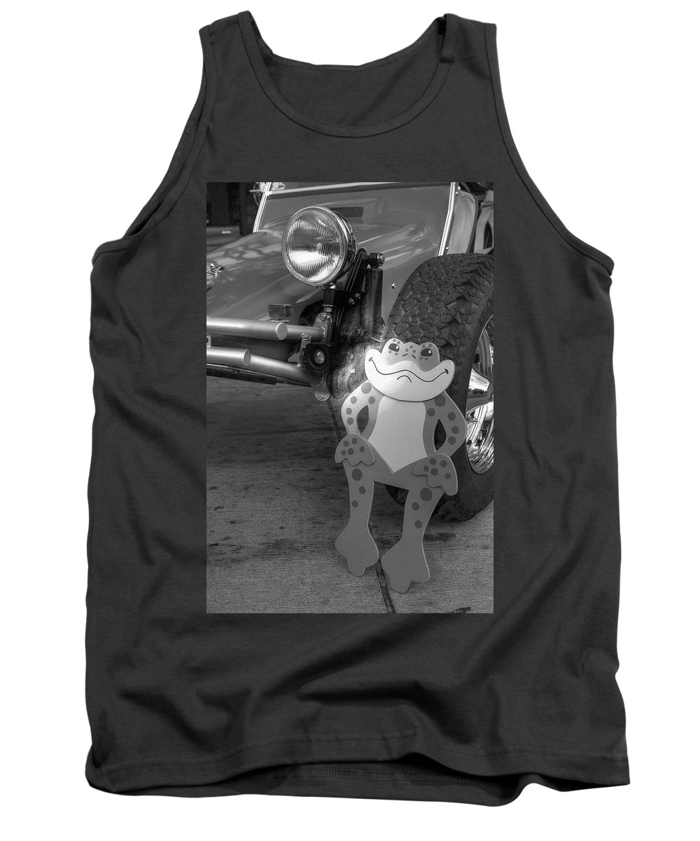 B & W Tank Top featuring the photograph The Buggy Frog by Richard J Cassato