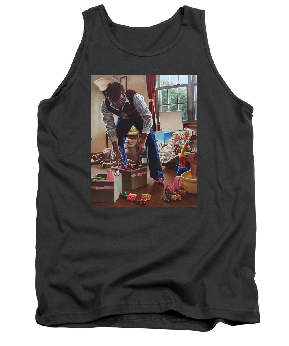 Portrait Tank Top featuring the painting The Collector by Kenneth Cobb