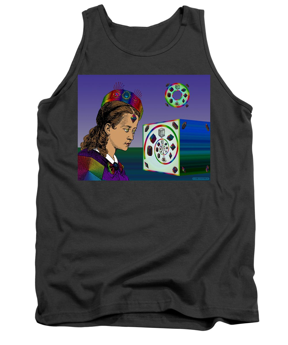 Digital Collage Tank Top featuring the digital art The Crystal Kingdom by Eric Edelman